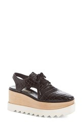 Stella Mccartney Women's 'Elyse' Cutout Platform Oxford Black