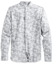 Wesc Men's Spring Camo Long Sleeve Shirt Asphalt