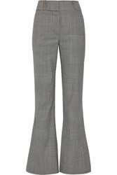 Gareth Pugh Prince Of Wales Checked Wool Flared Pants Gray