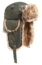 Phase 3 Women's Faux Fur Lined Trapper Hat Green