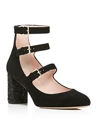 Kate Spade New York Anie Glitter Block Heel Mary Jane Pumps 100 Bloomingdale's Exclusive Black