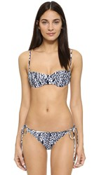 Milly Chain Print Maxime Underwire Bikini Top White Navy