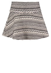 Banana Republic Cream Mini Skirt Black White Novelty