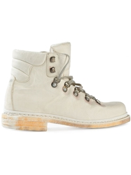 A Diciannoveventitre Lace Up Ankle Boots White