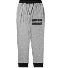 Grand Scheme Grey Quilted Track Pants