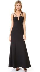Bcbgmaxazria Cutout Gown Black