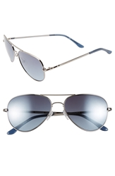 Bcbgmaxazria 'Sunshine' 55Mm Aviator Sunglasses Gunmetal