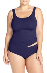 Nordstrom Plus Size Women's Lingerie Two Way Seamless Tank Navy Peacoat