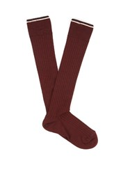 Isabel Marant Zina Silk Blend Socks Burgundy