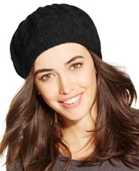 Charter Club Cashmere Cable Beret Classic Black