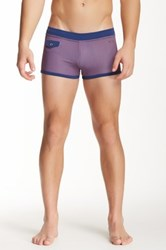 Parke And Ronen Ibiza Flap Pocket Square Cut Swim Trunk Red