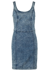 Ltb Weronika Denim Dress Elli Wash Moon Washed