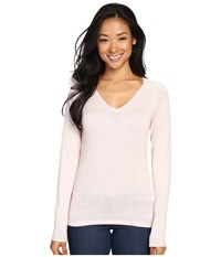 Smartwool Granite Falls V Neck Top Pink Horizon Women's Long Sleeve Pullover