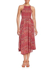 Free People Paisley Dress Red
