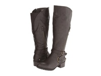 Type Z Liberty Extra Wide Calf Brown Tumble Women's Wide Shaft Boots
