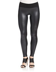 Kensie Pleather Leggings Black