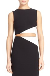 Women's Alice Olivia 'Cathleen' Colorblock Crop Top