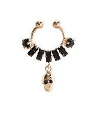 Givenchy Crystal And Skull Embellished Nose Ring