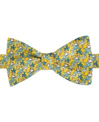 Tommy Hilfiger Men's Tropical Print To Tie Bow Tie Yellow