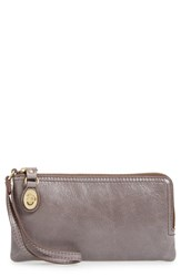 Hobo Women's 'Mila' Leather Wristlet Grey Granite