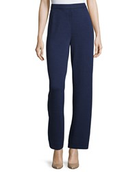 St. John Petite Santana Knit Stove Cut Pants Ink
