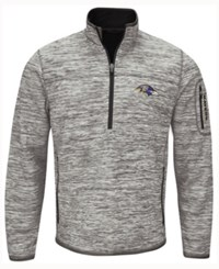 G3 Sports Men's Baltimore Ravens Fast Pace Quarter Zip Pullover Sweater Gray Black