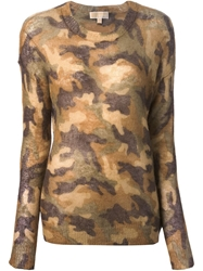 Michael Michael Kors Camouflage Sweater Nude And Neutrals