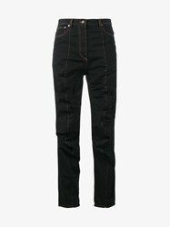 Y Project Jeans With Gathered Front Black Orange