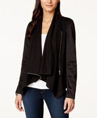 Inc International Concepts Draped Front Zippered Jacket Only At Macy's