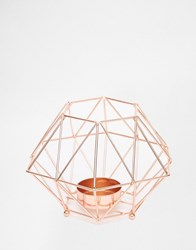 Talking Tables Rose Gold Metal Tea Light Holder Rose Gold