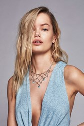 Free People Womens Droplet Cage Collar
