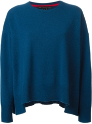 Marc By Marc Jacobs Oversize Crew Neck Sweater Blue