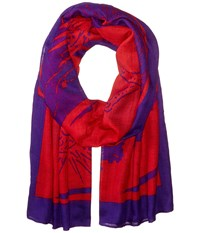 Liebeskind Dragon Scarf Cherry Blossom Red Dragon Scarves