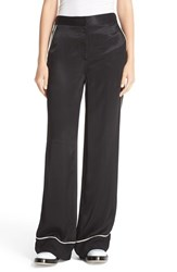 Dkny Women's Contrast Piping Wide Leg Pants