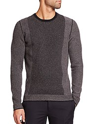 Vince Contrast Stripe Wool And Cashmere Sweater Heather White