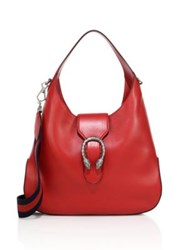 Gucci Dionysus Leather Hobo Bag Red Black