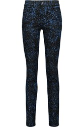 Proenza Schouler Paint Splattered High Rise Skinny Jeans Black