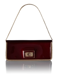 Juno Red Patent Long Clutch Bag