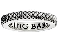 King Baby Studio Dragon Scale Infinity Ring Silver Ring