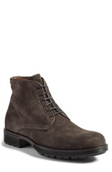 Aquatalia By Marvin K Men's 'Harvey' Plain Toe Boot Charcoal Suede