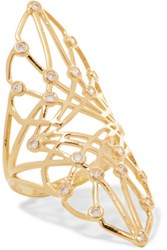 Noir Jewelry Gold Tone Crystal Ring