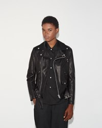 Junya Watanabe Leather Moto Jacket Black