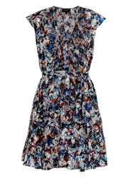 Saloni Katie Anaconda Print Silk Dress