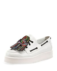 Pierre Hardy Scoubi Pop Leather Loafer White Men's Size 42.0B 12.0B Multicolor White
