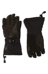 Men's Spyder 'Omega Conduct' Leather Trim Tech Ski Gloves