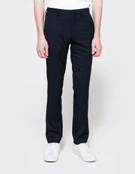 Topman Diamond Weave Skinny Trousers Navy