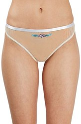Topshop Women's Anna Bird Embroidered Thong