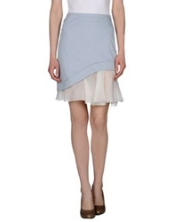 Philosophy Di Alberta Ferretti Knee Length Skirts Sky Blue