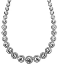 Arabella Sterling Silver Necklace Swarovski Zirconia Necklace 55 1 3 Ct. T.W. Clear