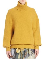Adam By Adam Lippes Solid Turtleneck Sweater Gold